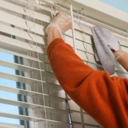 Cleaning mini blinds square