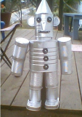 Photo from TF craft for recycled tin can man.