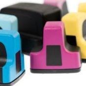 Printer ink color cartridges.