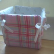 Fabric Box with ribbon ties