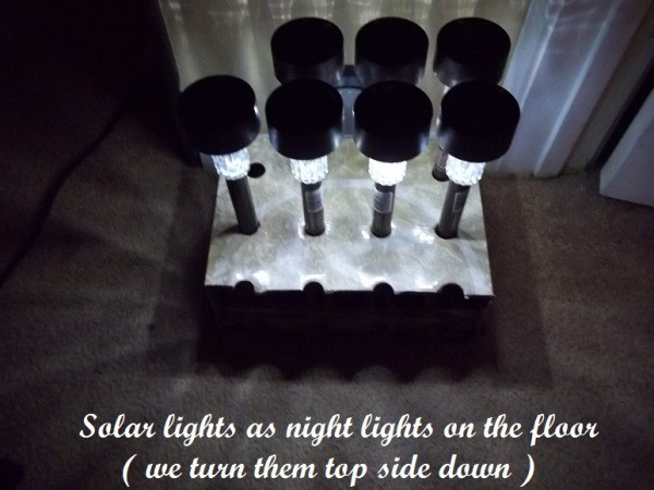Solar Lights in Box Ready to Be Turned Upside Down