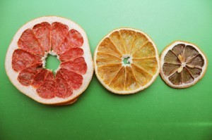 Dried Grapefruit Orange and Lime Slices