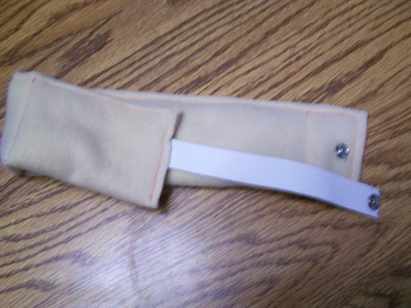 finished wrap cushion showing snap closure