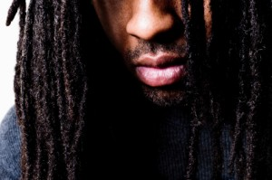 Closeup of African American Man with Dreadlocks