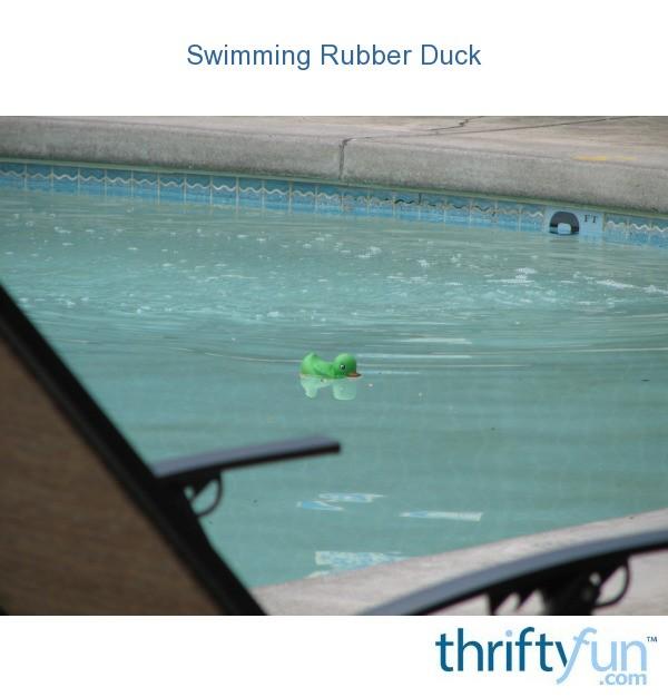 Swimming Rubber Duck Thriftyfun