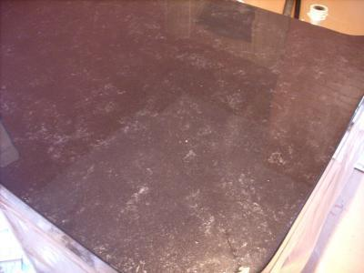 Painted laminate countertop.