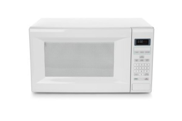 Photo Of A White Microwave Oven