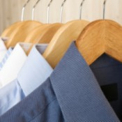 "Cleaning ""Dry Clean Only"" Clothing at Home, Row of Dry Cleaned Shirts"