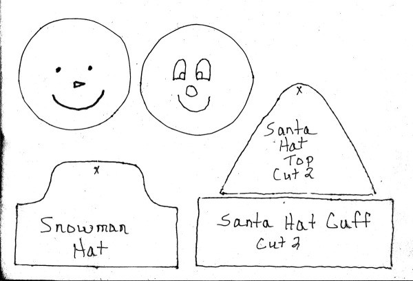 Santa/Snowman Ornament Template