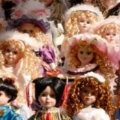 Collectible dolls.