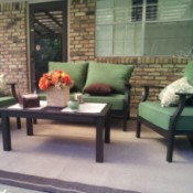Back Patio with Green Furniture