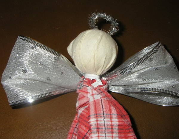 Recycled Raggedy Angel before painted face