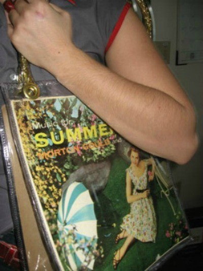 Recycled Record Cover Purse