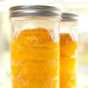 Meyers lemons in canning jars.