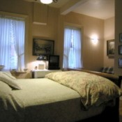 Guest bedroom in the bed and breakfast.