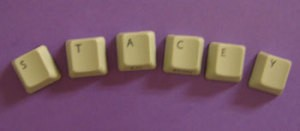 Photo of magnets made with keyboard keys.