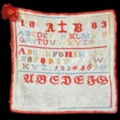 Antique alphabet sampler.