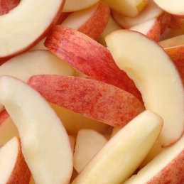A pile of apple slices.