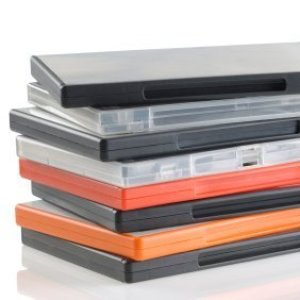 A pile of DVD cases.
