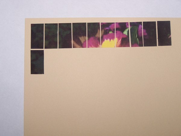 Glue tile 20 below tile 10.