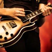 Man Playing Rock Guitar