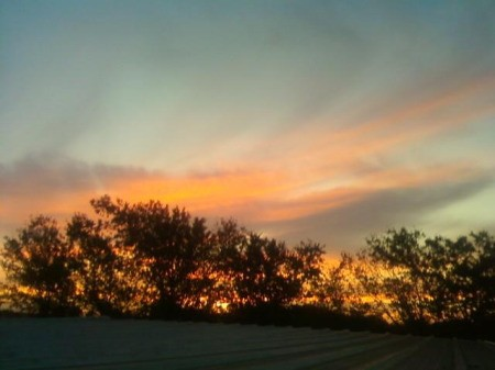 Moss Lake, TX Colorful Sky