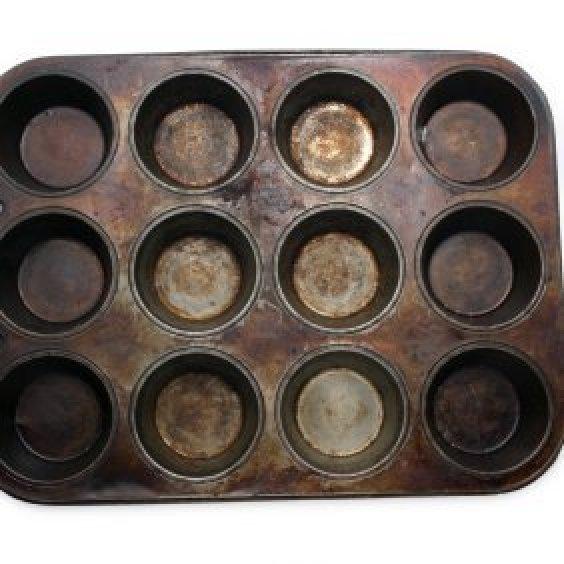 rusty muffin pan