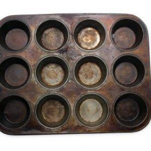 Rusty muffin pan.