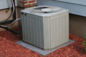 Central Air Conditioner Outside Home
