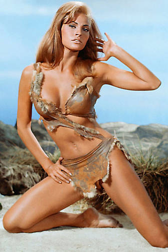 Raquel posing in the skin bikini from 1 million BC film.