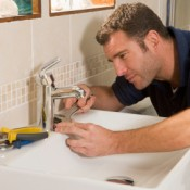 Replacing a Bathroom Faucet, Plumber Replacing Bathroom Faucet
