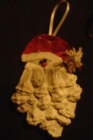 Pinecone Santa Ornaments
