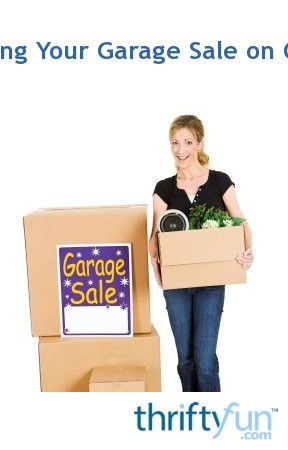 Posting Your Garage Sale on Craigslist | ThriftyFun