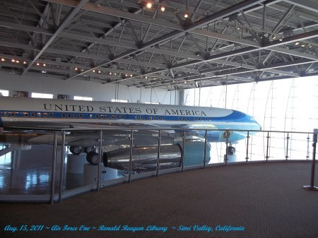 Front of Air Force One at Ronald Reagan Library