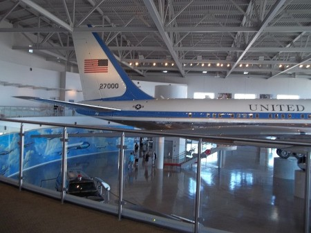 Back of Air Force One at Ronald Reagan Library