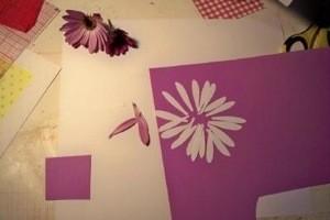 Cut paper petals