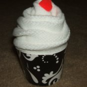 Sock Cupcake with Cherry on top