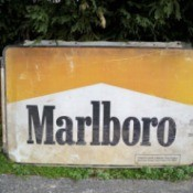 Old Marlboro cigarette sign.