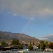 Rainbow Over Horse Pasture