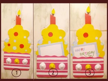 Cupcake Birthday Cake Card Step 5