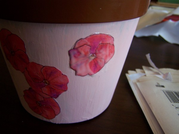 Recycled Plastic Flower Pot Step 4