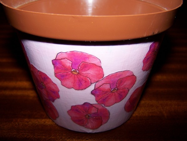 Recycled Plastic Flower Pot Step 5