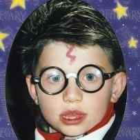 Boy in Harry Potter Costume