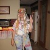 Lady in Hippie Costume