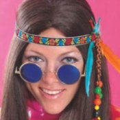Hippie Chick with Round Glasses on