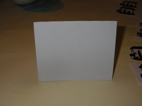 Nativity Christmas card 4 - Folded blank card.
