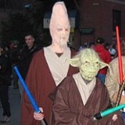 Two Jedis wit Light Sabers