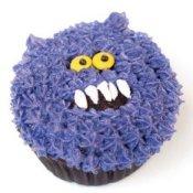 Purple monster cupcake.