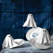 Elegant ghost cupcakes.