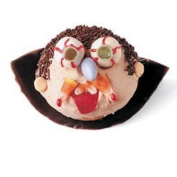 Vampire cupcake made with candy.